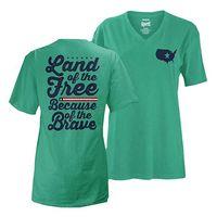 Royce Brand V-Neck Shirt Seafoam, Medium